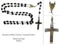 Corona del Rosario usata da Albino Luciani, acquistata a Lourdes e aggiustata più volte con il filo di ferro.