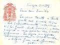 Biglietto di Angelo Roncalli a don Emilio Suman - 03.01.1956 (1)