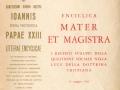 Lettera Enciclica Mater et Magistra