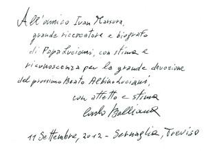 Arch. Carlo Balljana, Scultore dei Papi