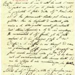 DOCUMENTO DEL 1828 IN CUI DICE DI ESSERE STATO RICEVUTO DAL SANTO PADRE ALL'UNA DI NOTTE