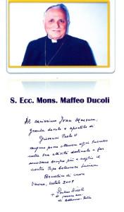Mons. Maffeo Ducoli, Vescovo di Belluno Feltre