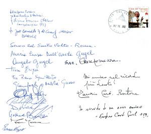 Partecipanti alla Messa per i 100 anni della nascita di Giovanni Paolo I e dedica del Card. Tarcisio Bertone e Prosper Grech