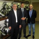 Con i Maggiori Peter Hasler e Lorenzo Merga nell'armeria della Guardia Svizzera